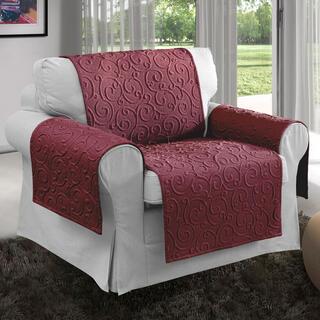 Prikrývky na sedaciu súpravu VOLTE bordó, kreslo - sedák 50 cm
