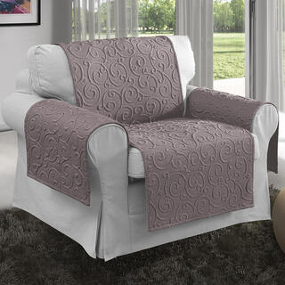 Prikrývky na sedaciu súpravu VOLTE orieškové, kreslo - sedák 50 cm