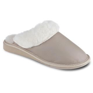 Dámske papuče pre širokú nohu béžové