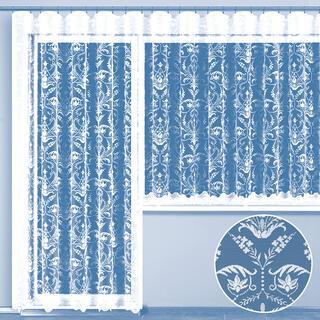 Hotová žakárová záclona VIRGINIA - balkónový komplet