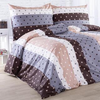 Bavlnené posteľné obliečky PUNTINI hnedé