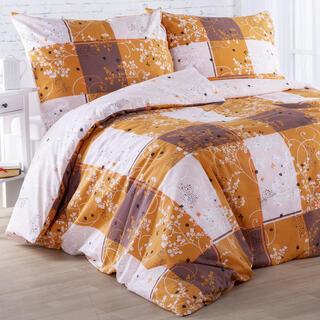 Bavlnené posteľné obliečky VALENCIA zlaté, štandardná dĺžka
