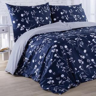 Bavlnené posteľné obliečky LUNA modré