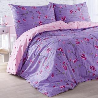 Bavlnené posteľné obliečky ALEGRIA ružovo-fialové