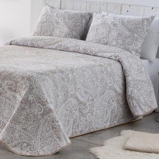 Prikrývka cez posteľ CASIA béžová, jednolôžko