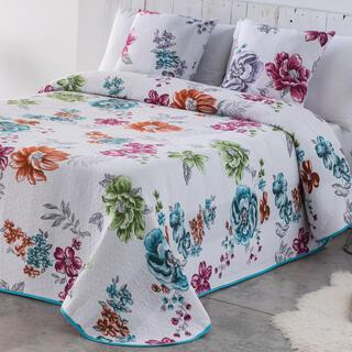 Prikrývka cez posteľ CRYSTAL modrá, jednolôžko