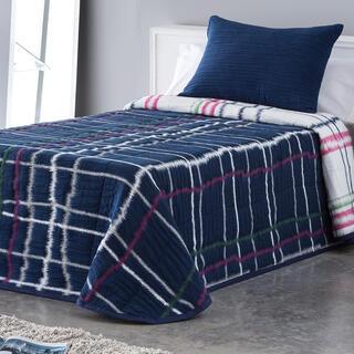 Prikrývka cez posteľ MARA modrá, jednolôžko
