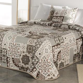 Prikrývka cez posteľ MIA béžová, jednolôžko