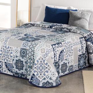 Prikrývka cez posteľ MIA modrá, jednolôžko