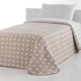 Prikrývka cez posteľ THALIA béžová, jednolôžko