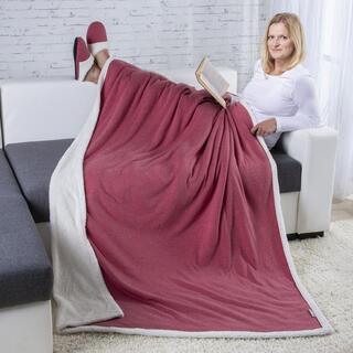 Barančeková prikrývka fialová TALMA a Domáce textilné papuče veľ. 39-40