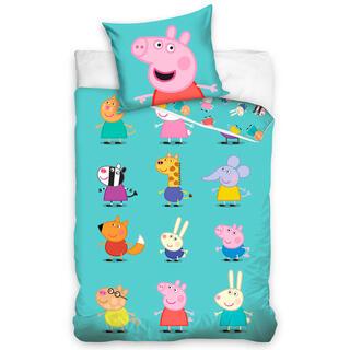 Detské posteľné obliečky PRASIATKO PEPPA a Kamaráti