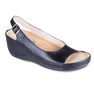 Dámske zdravotné sandále čierne