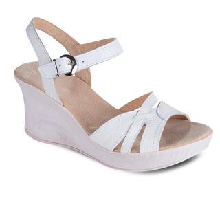 Dámske letné sandále na kline biele