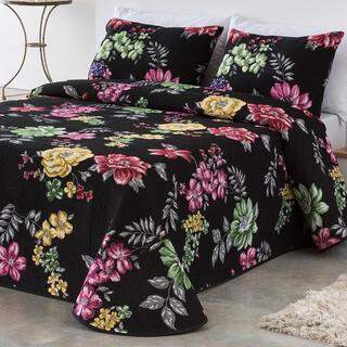 Prikrývka na posteľ CRYSTAL čierna, jednolôžko