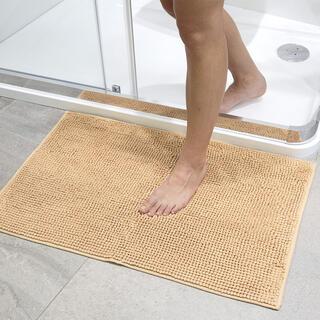 Kúpeľňová predložka s nopkami svetlohnedá