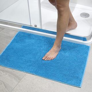Kúpeľňová predložka s nopkami modrá