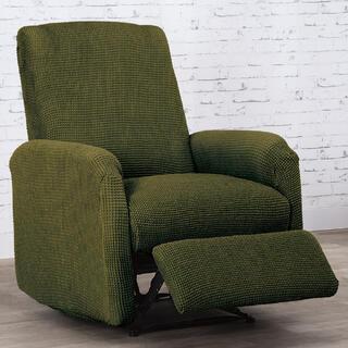 Super strečové poťahy NIAGARA zelená relaxačné kreslo (š. 70 - 90 cm)