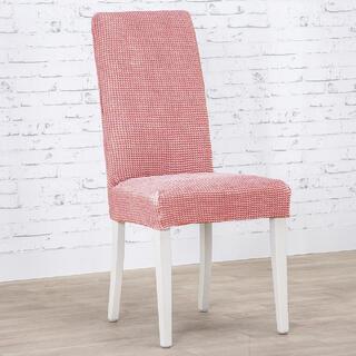 Super strečové poťahy NIAGARA koralová stoličky s operadlom 2 ks (40 x 40 x 55  cm)