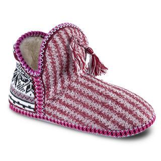 Pletené papuče s hrejivým barančekom