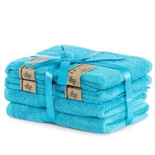 Sada bambusových uterákov a osušiek BAMBY modrá 6 ks