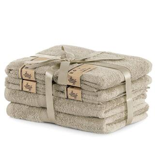 Sada bambusových uterákov a osušiek BAMBY béžová 6 ks