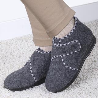 Dámske papuče na suchý zips šedé