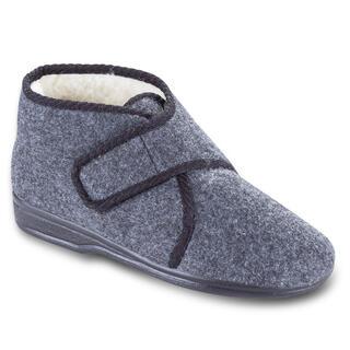 Pánske papuče na suchý zips šedé