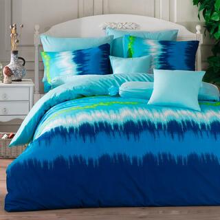 Bavlnené posteľné obliečky VIBE modré jednolôžko