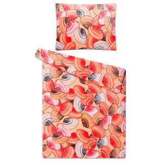 Posteľné obliečky z mikroflanelu MUŠLE marhuľová