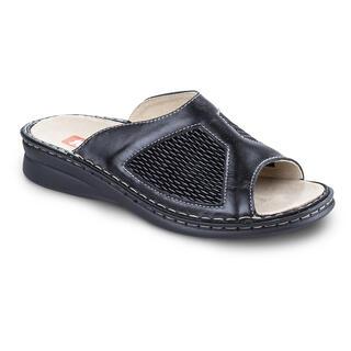 Celokožené zdravotné papuče s pružným priehlavkom