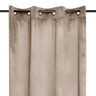 Dekoračný velúrový záves DANAÉ béžový 140 x 260 cm