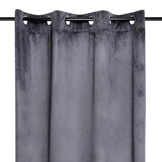 Dekoračný velúrový záves DANAÉ tmavošedý 140 x 260 cm