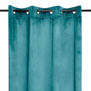 Dekoračný velúrový záves DANAÉ tyrkysový 140 x 260 cm