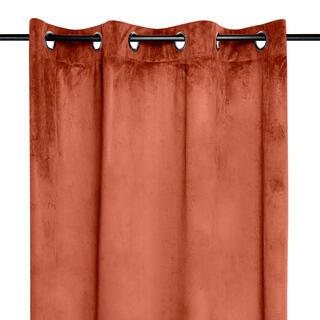 Dekoračný velúrový záves DANAÉ tehlový 140 x 260 cm