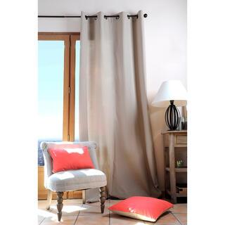 Dekoračný bavlnený záves DUO UNI béžový 135 x 240 cm