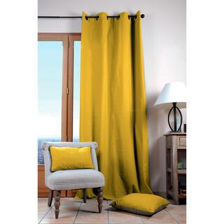 Dekoračný bavlnený záves DUO UNI horčicový 135 x 240 cm, 1 ks