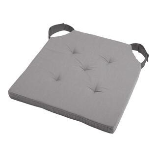 Podsedák na stoličku DUO UNI so suchým zipsom šedý