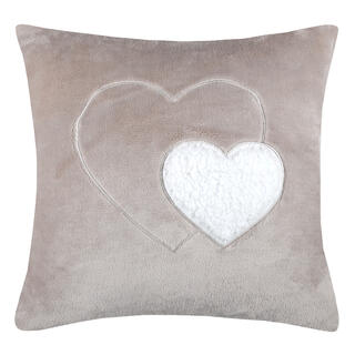 Dekoračný vankúšik COCOON srdce béžová 40 x 40 cm