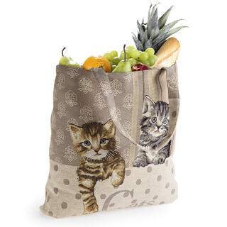 Textilná nákupná taška MAČKY