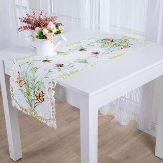 Behúň na stôl s výšivkou MOTÝLE 40 x 110