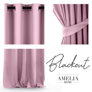 Záves BLACKOUT AMELIA ružový 140 x 245 cm