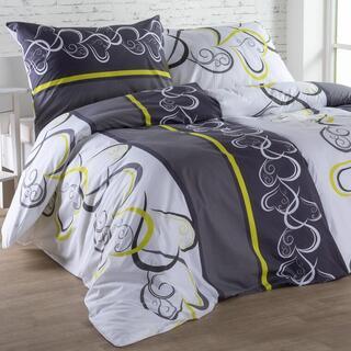 Bavlnené posteľné obliečky SRDCE zelené