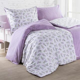 Bavlnené posteľné obliečky LILIANA fialové