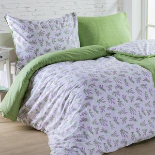 Bavlnené posteľné obliečky LILIANA zelené