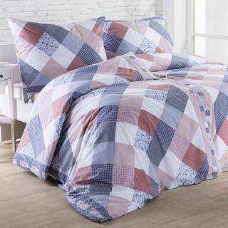 Bavlnené posteľné obliečky SONIA modré
