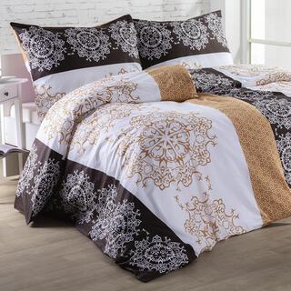 Bavlnené posteľné obliečky ZARINA hnedé