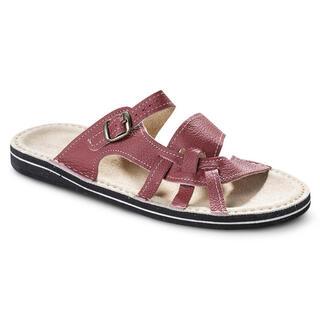 Dámske papuče s koženou stielkou