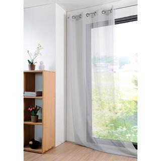 Farebná záclona MONNA šedá 135 x 260 cm