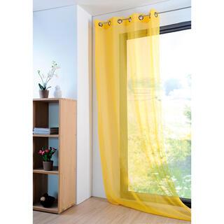 Farebná záclona MONNA žltá 135 x 260 cm